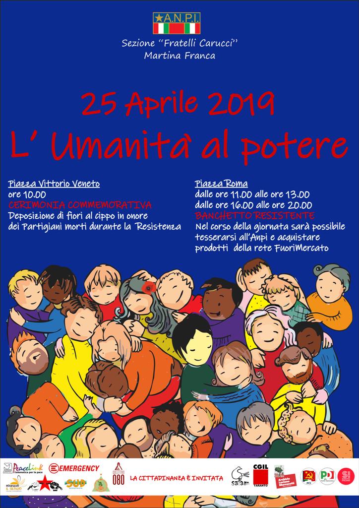 locandina 25 aprile 2019 anpi Martina Franca web
